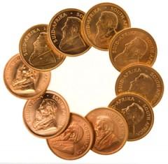 Krügerrand Goldmünzen haben einen hohen Wert